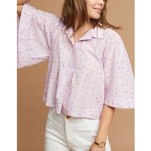 Anthropologie Maeve Top Bell Sleeve Blouse Small